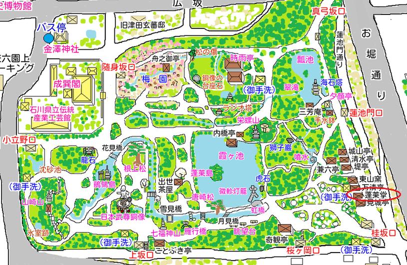 蓬莱堂の地図