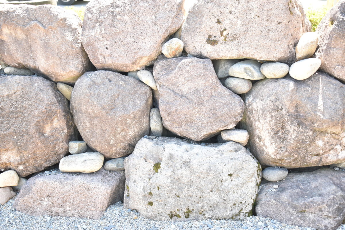 自然石積み