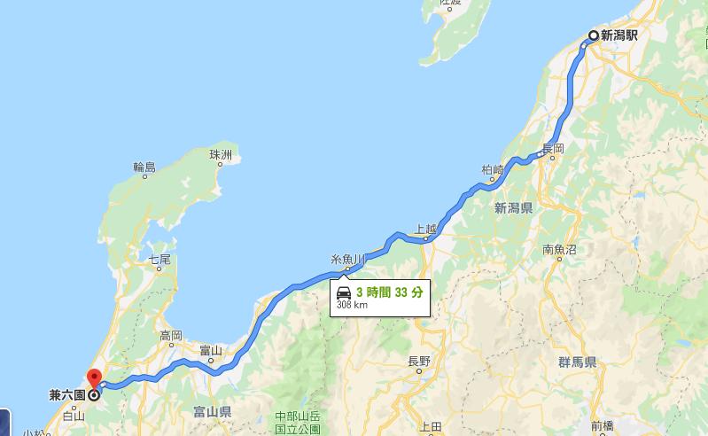 新潟駅から金沢森本