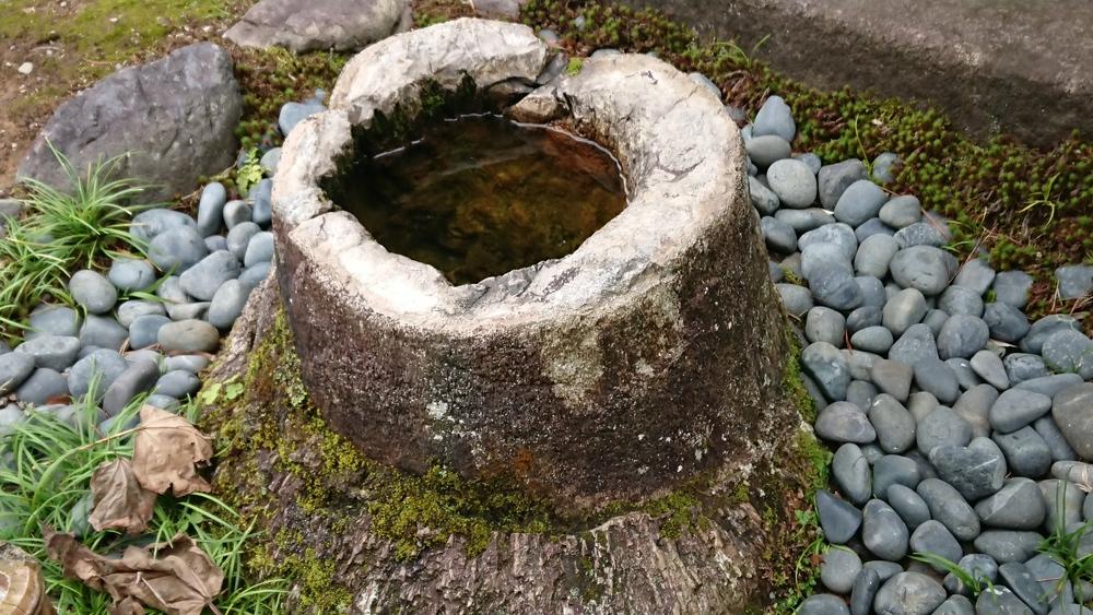 竹根石手水鉢