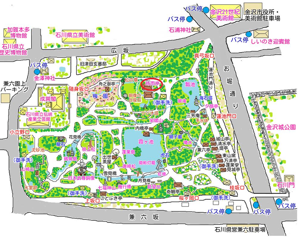 時雨亭の地図