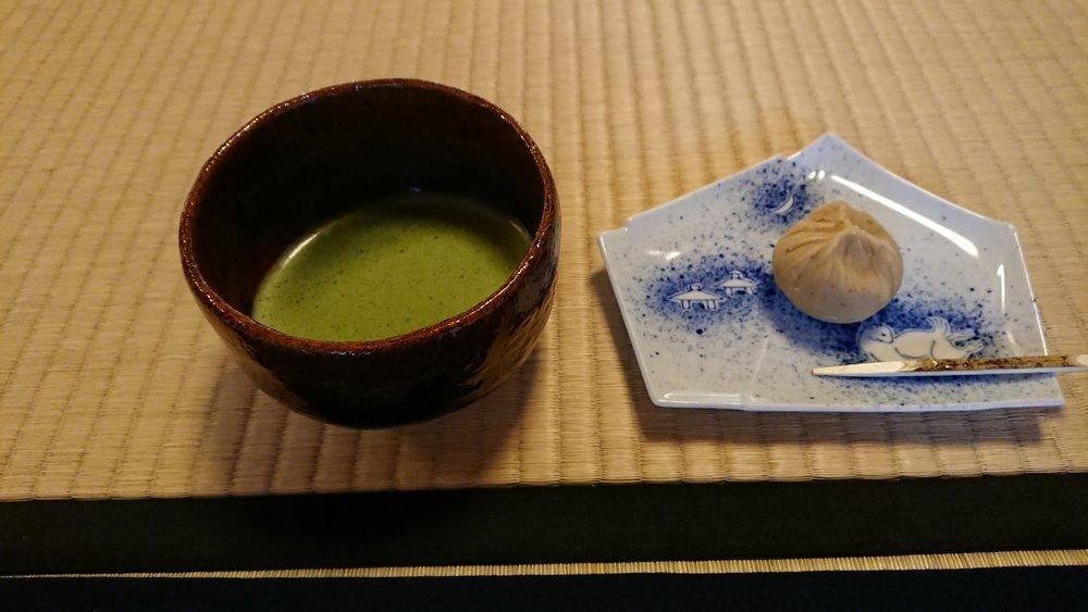 抹茶と生和菓子