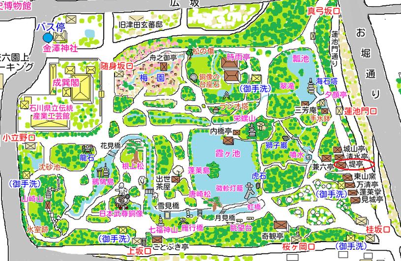 堤亭の地図